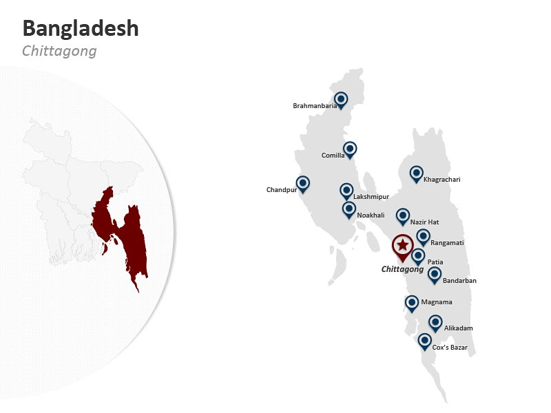 PPT Map of Bangladesh - Chittagong