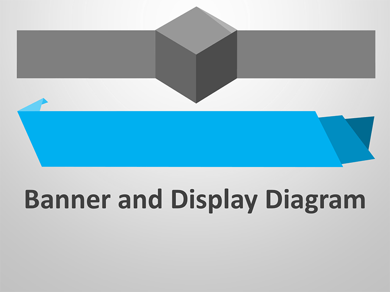 Banner Display Diagram - Editable PowerPoint Presentation