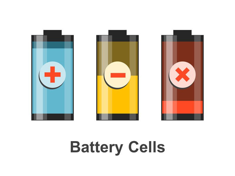 Battery Cell Diagram Editable PowerPoint Template