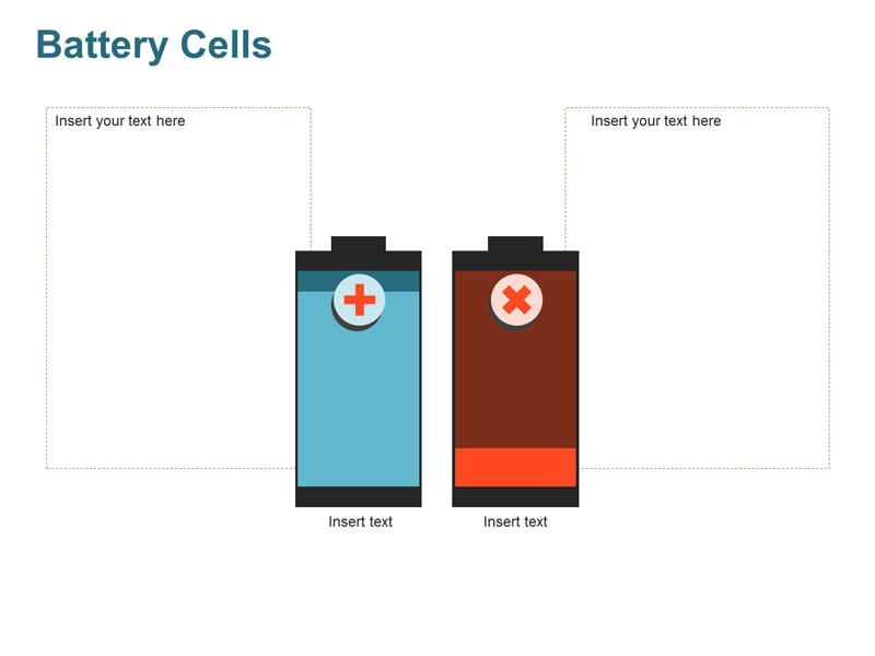 Battery Cells - Charging and Discharging PPT Diagram
