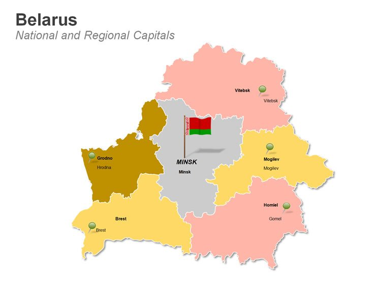 Editable Maps of Regions of Belarus