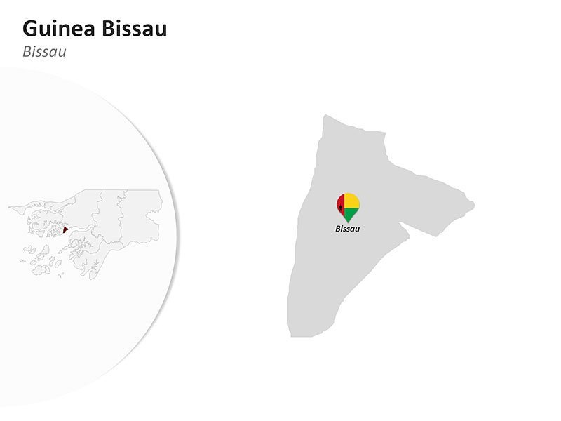 Bissau Capital City of Guinea Bissau Map - PPT Slides