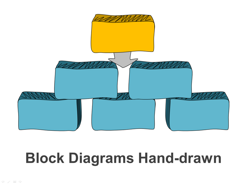 Editable PPT Slide - Hand-drawn Bricks Diagram