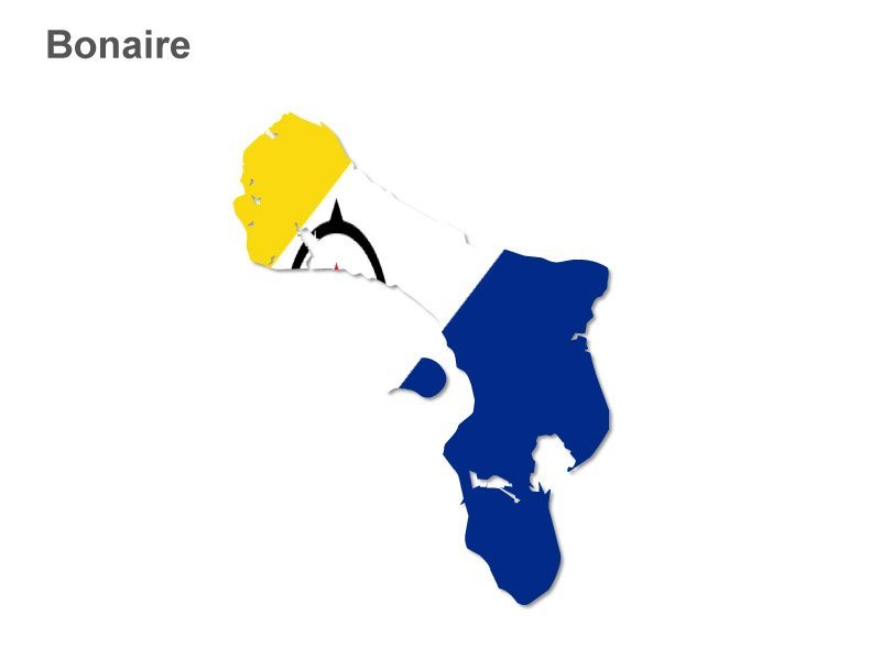 Bonaire Flag Map PPT