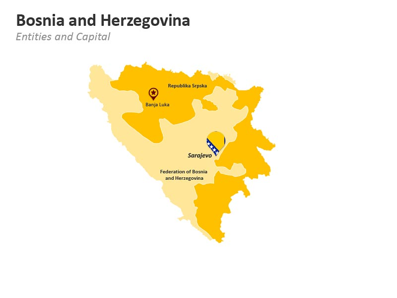 Bosnia and Herzegovina Entities PowerPoint Map