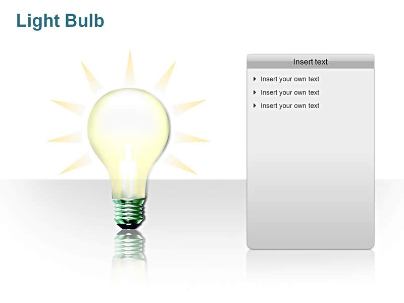 LightBulb Picture - Editable PowerPoint Slide