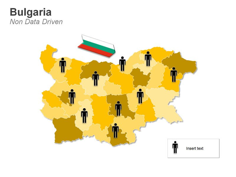 PowerPoint Demographic Map of Bulgaria