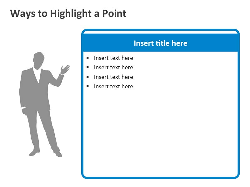 Businessman Presenter - PowerPoint Illustration