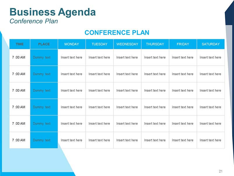 Weekly Agenda PPT Template