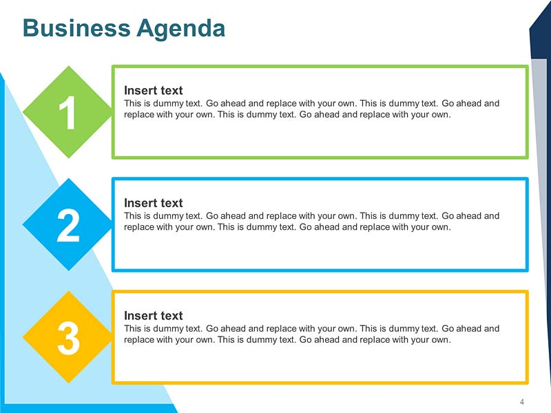 Agenda of Meeting Editable PPT Template