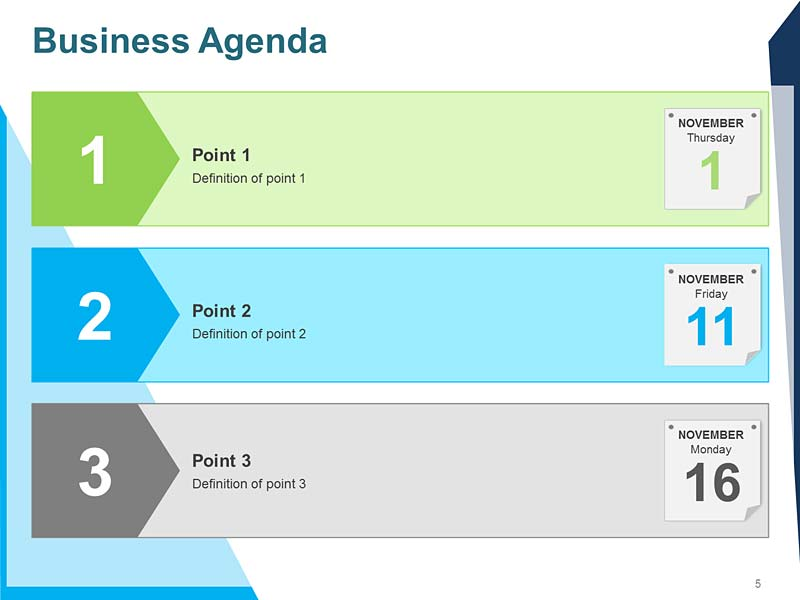 Business Plan Agenda PowerPoint Template