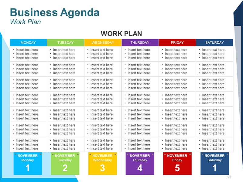 Daily Agenda PPT Template