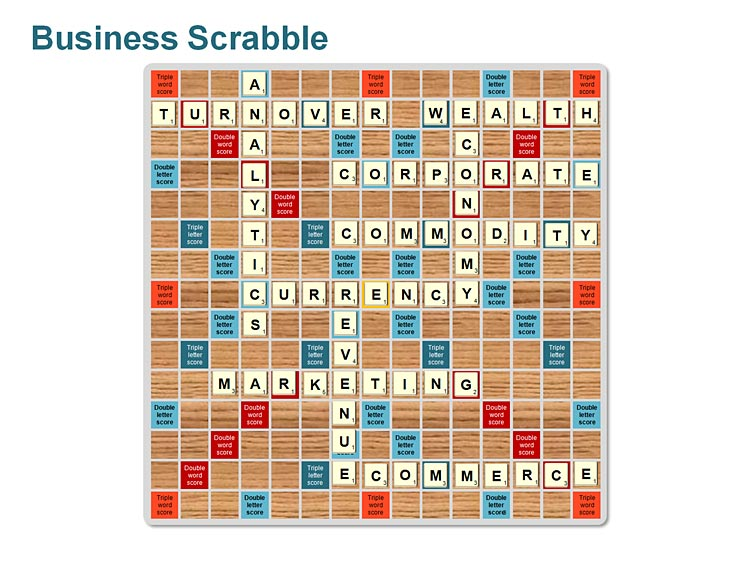 Scrabble Alphabet PPT for Business