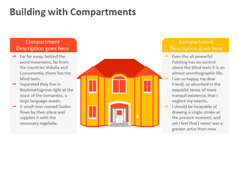Building with Compartment - PPT Template