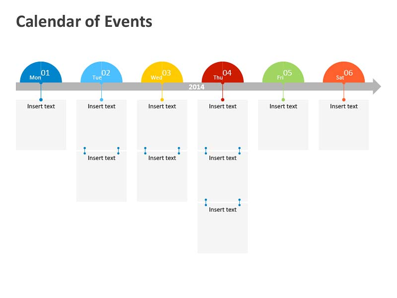 Business Calendar of Events - PowerPoint Slides