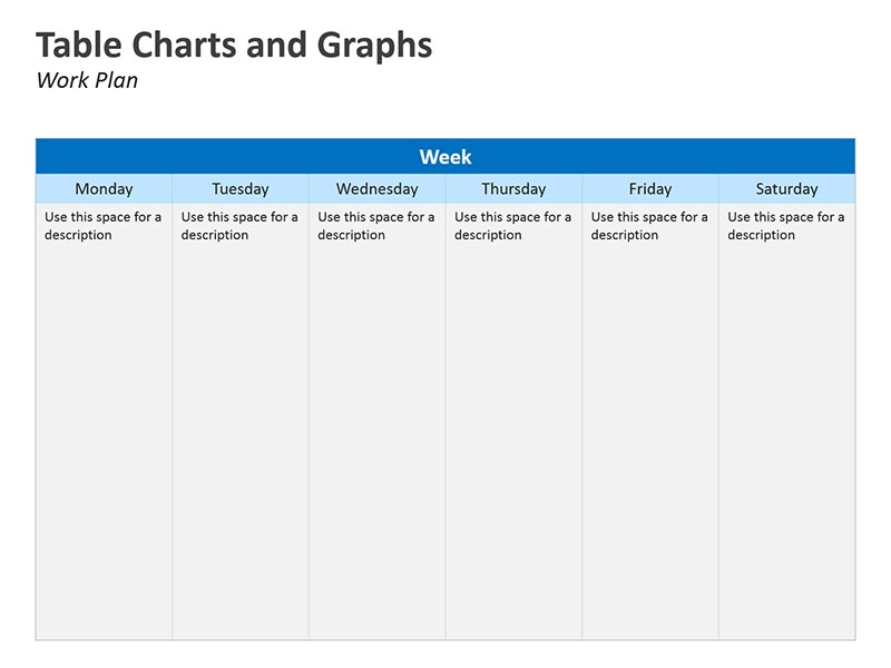 Work Plan Table and Graphs PowerPoint Slide
