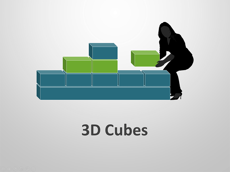 PowerPoint Presentation on 3D Cube Shapes