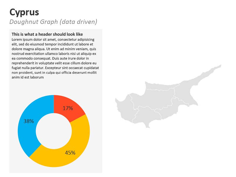 Graph Map PowerPoint - Cyprus