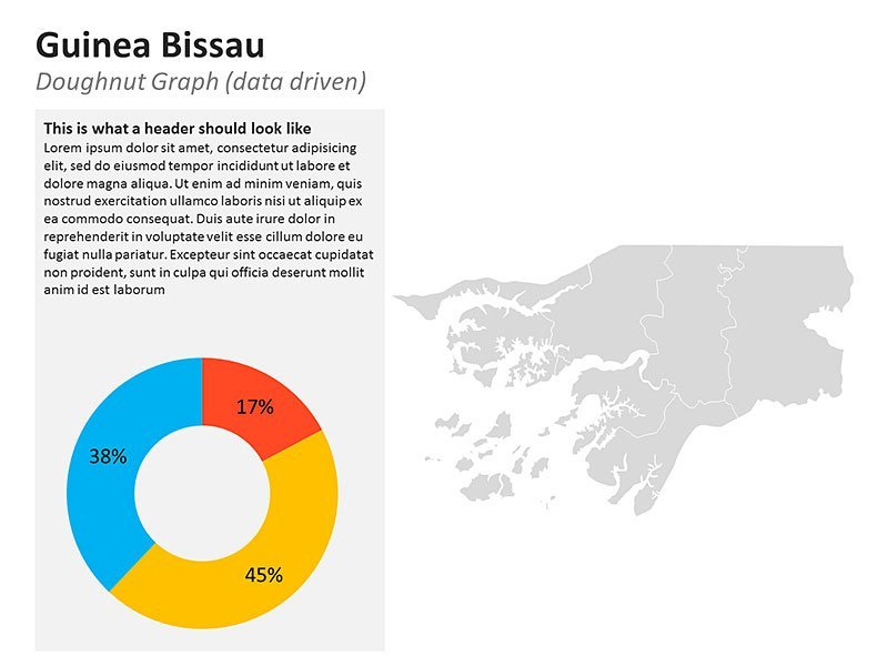 Business Data of Guinea Bissau Map PowerPoint