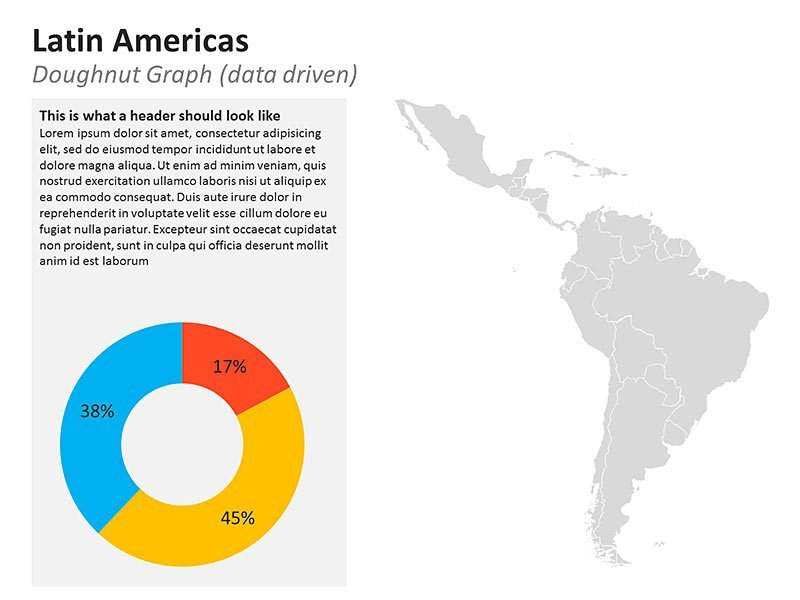 Business Data of Latin America of PowerPoint Slide