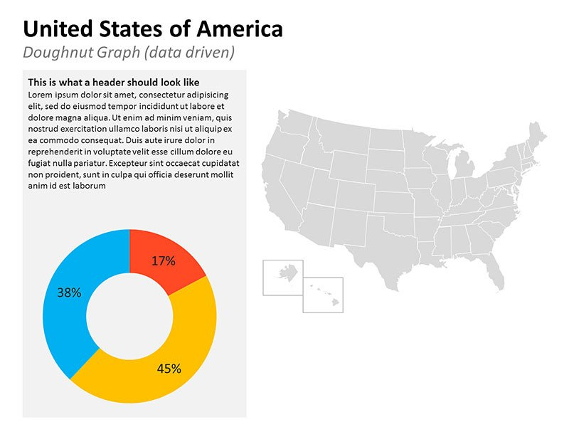 Business Map of USA PowerPoint