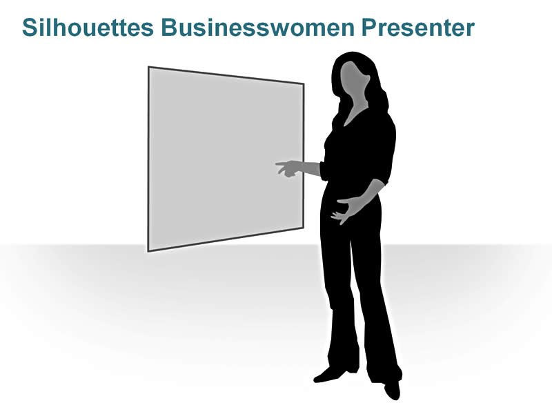 Silhouettes: Businesswoman Presenter
