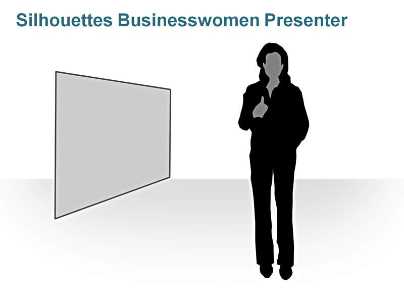 Editable PPT of Silhouettes - Good Job