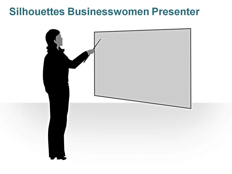 Editable PPT of Silhouettes - Female