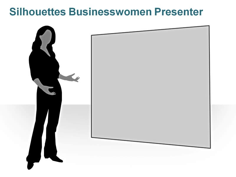 Editable PPT of Silhouettes - Business Executive