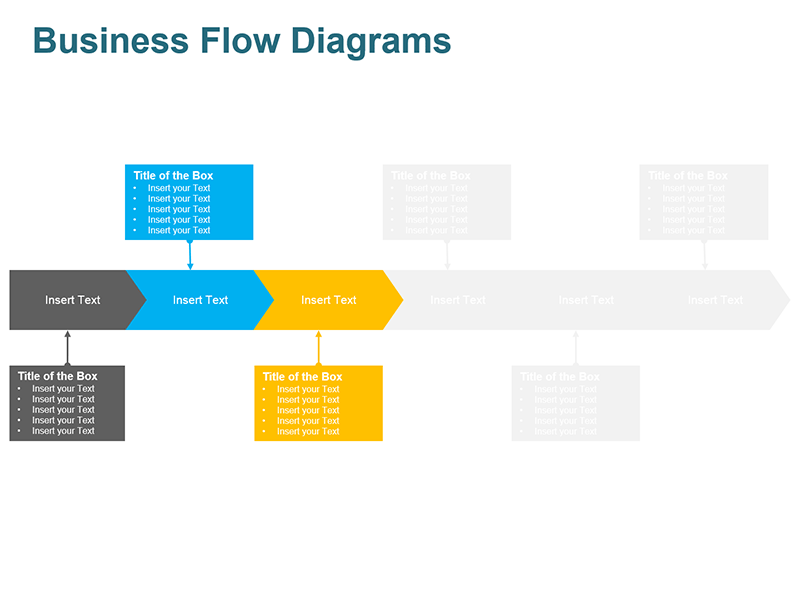 Steps Arrow Process Diagram - Editable PowerPoint Slide