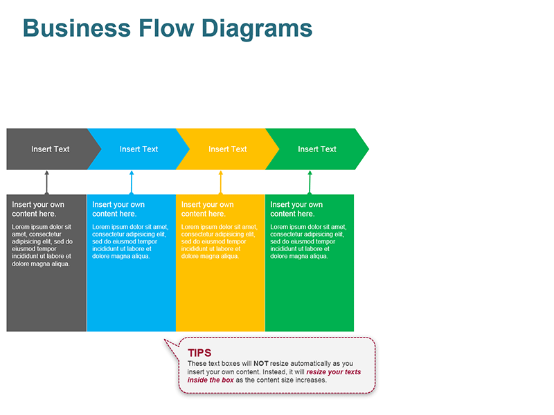 Procurement Process Flow Diagram - PowerPoint Slide