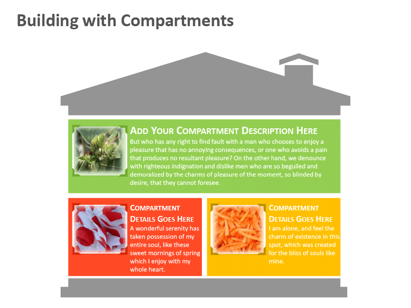Building with Compartments PPT Graphics