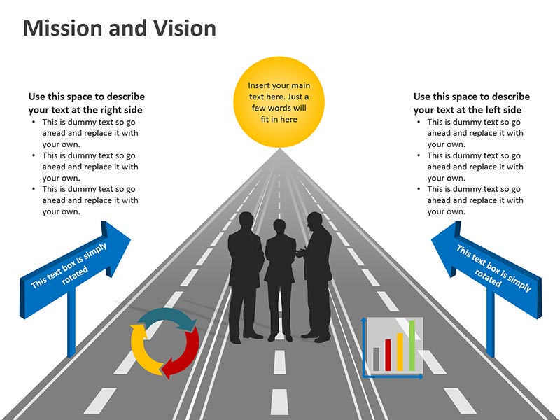 Graphic Business Vision - PowerPoint Slide