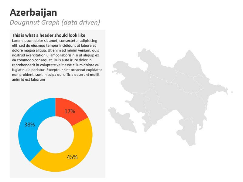 PowerPoint Graphs Map of Azerbaijan
