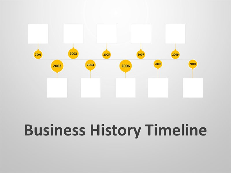 PowerPoint Presentation on Business Timeline