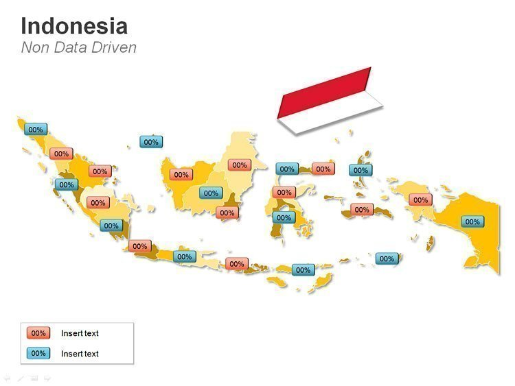 Indonesia Business Data PPT Map