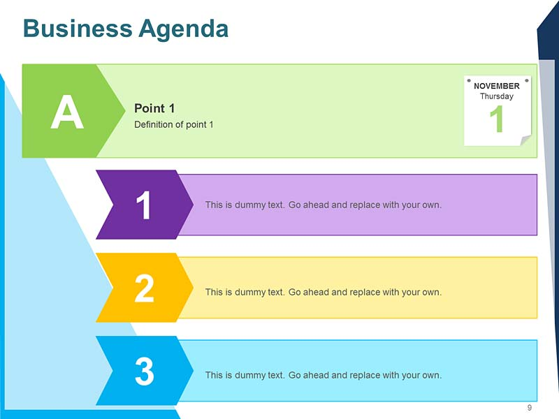Board Meeting Agenda Template for PowerPoint