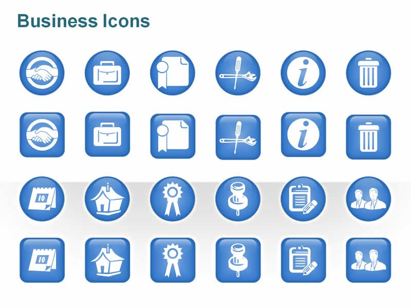 PowerPoint Icons on Business Management