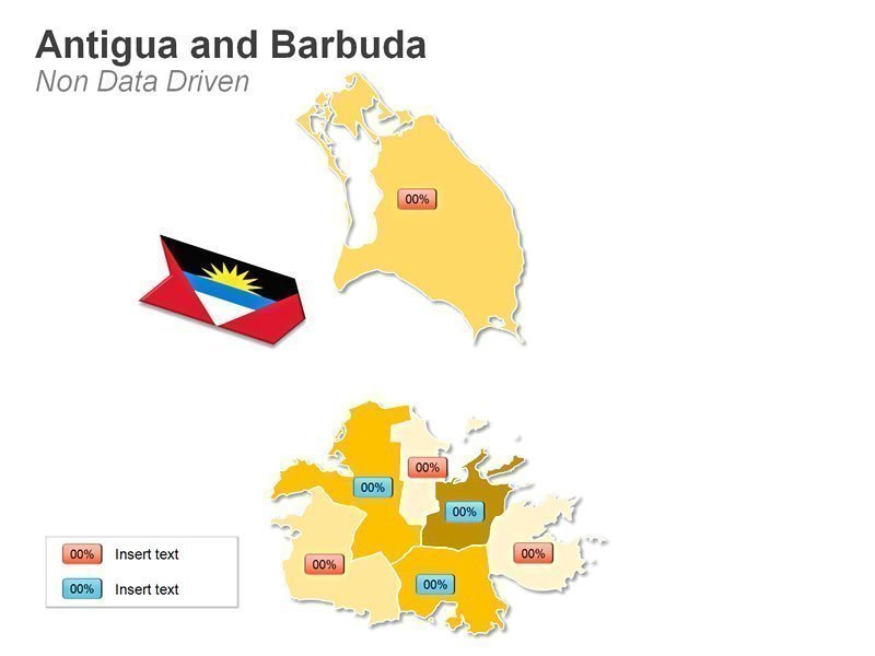 Map of Antigua and Barbuda PPT