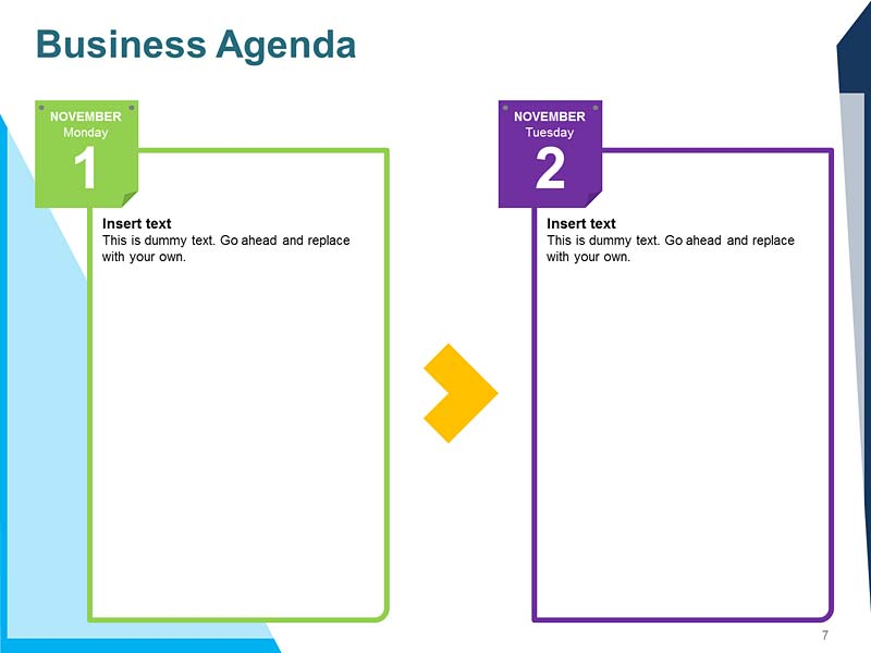 Agenda For Meeting Template for PPT