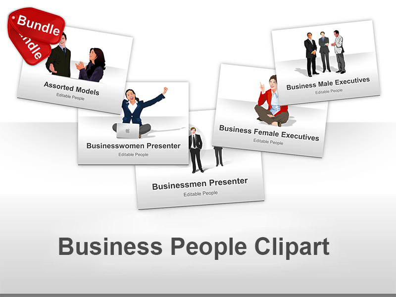 Editable PowerPoint Presentations of Business People and Models