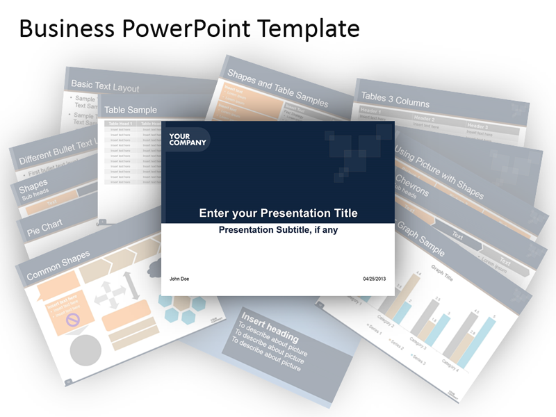 Business Template Presentation - PowerPoint Slide