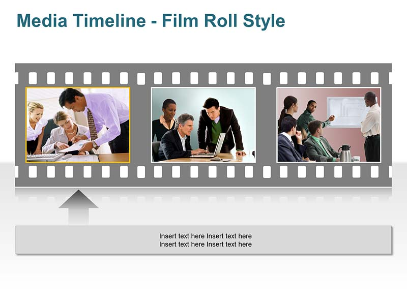 Editable Film Roll - PowerPoint Slide