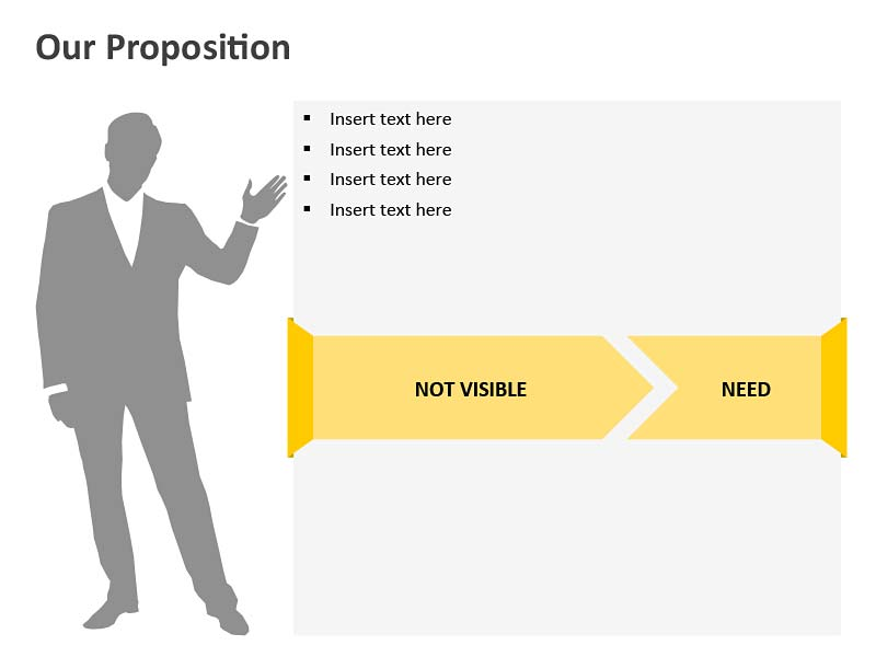 Business Presenter - Editable PowerPoint Illustration
