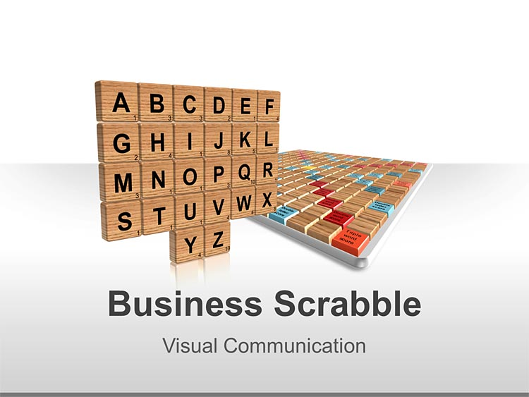 Business Scrabble Editable PowerPoint