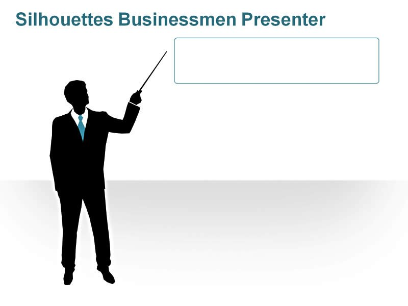 Editable PPT of Silhouettes People - Business Executive