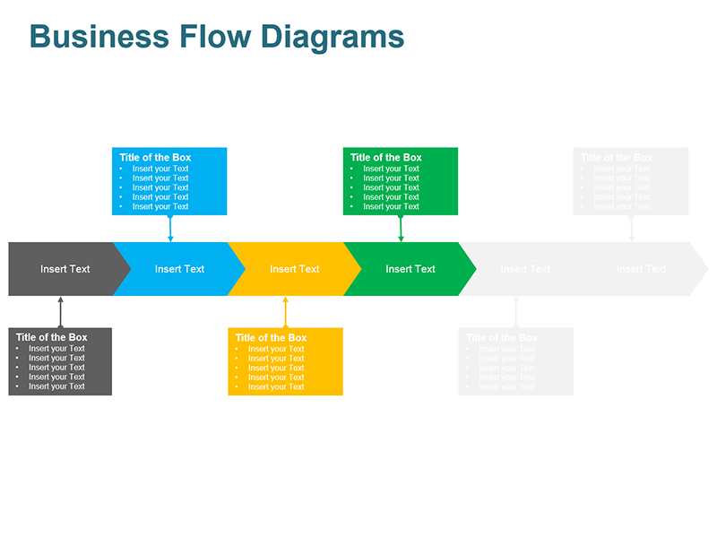 Process Steps Arrow - PowerPoint Slide