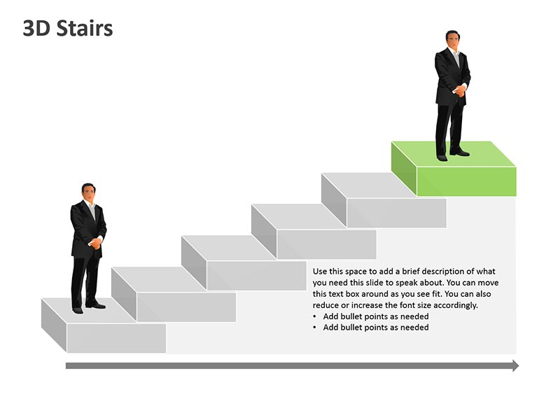 Three Dimensional Steps - Business PPT