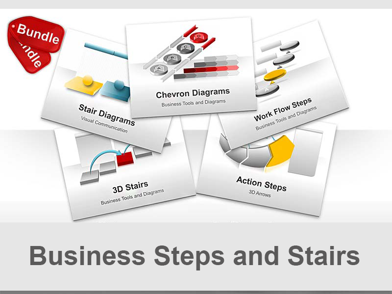 PowerPoint Frameworks - Stairs, Steps and Flow Charts