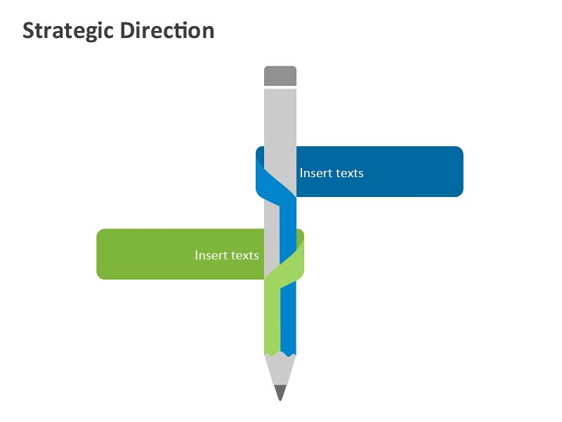 Strategic Direction Diagram - PowerPoint Slides